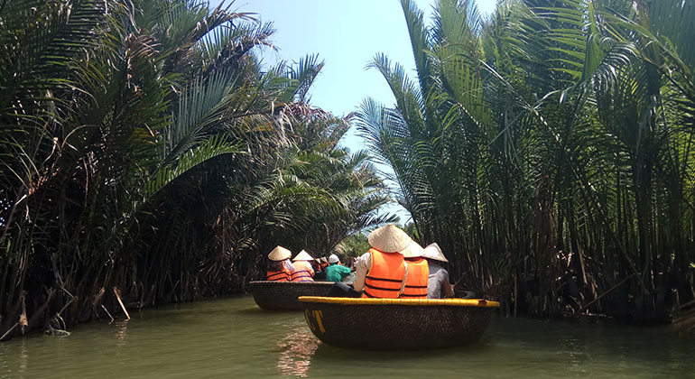 Travel from Danang to Hoi an: 1 Day Itinerary - Cam Thanh Water Coconut Village.