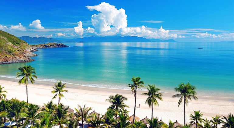 Nha Trang - a coastal city famous for its white sand beaches