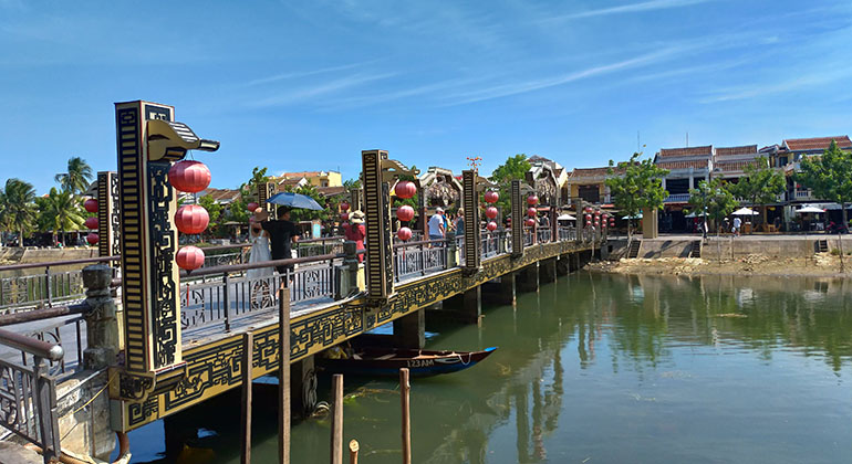 Hue to My Son to Hoi An by car - Hoi An Old Town Bridge